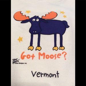 Got Moose? Vermont, toddler 2T sweatshirt, NWT